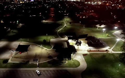 City of El Monte Mountain View Park Smart City LED wireless control