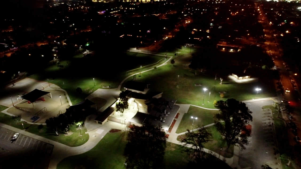 Mountain View Park LED lighting and wireless control project slide 1
